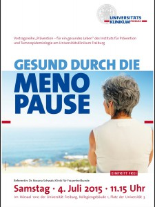 Vortrag - gesund durch die Menopause