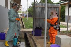Training für Ebolaeinsätze in Ghana Copyright: ZDF/Norbert Porta