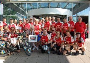 Bereits zum zehnten Mal findet die Radtour pro Organspende statt. Dieses Jahr machen die Teilnehmer auch am Universitätsklinikum Freiburg halt.