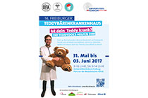 Plakat: Teddybären-Krankrankenhaus
