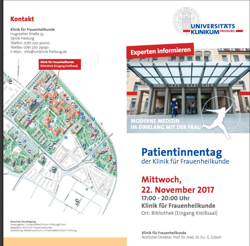 Infoveranstaltung  am 22. November 2017 zu Beckenboden, HPV-Impfung und Krebstherapien