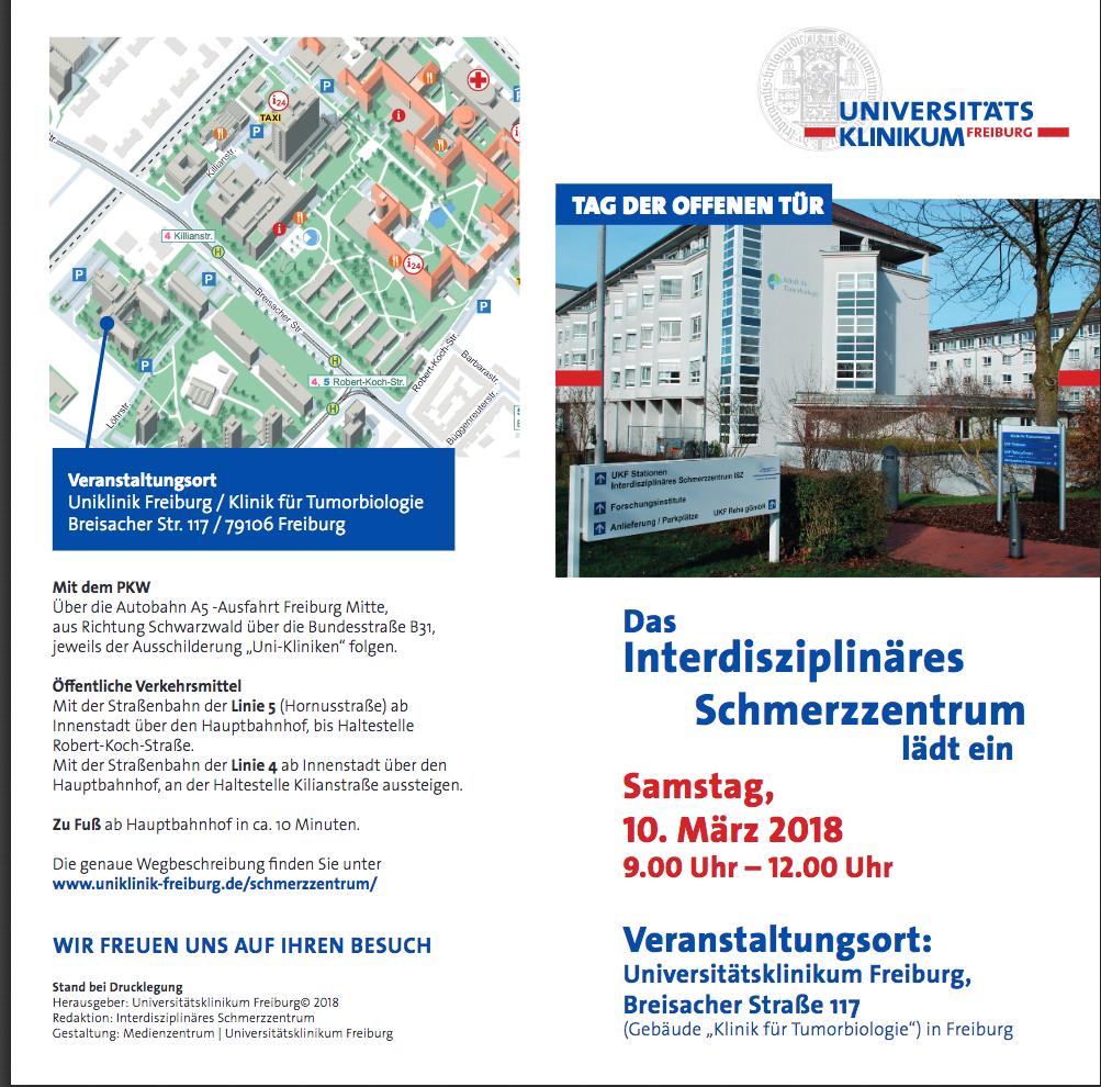 Flyer Schmerzzentrum Uni Klinik Freiburg