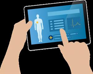 Patienten mit dem Tablet überwachen