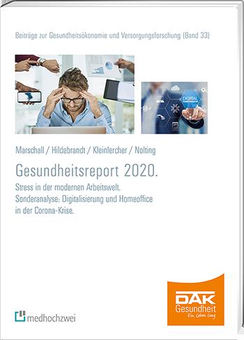 Titelseite des DAK Gesundheitsreports 2020