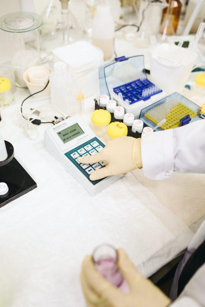 Das Foto zeigt ein Labor